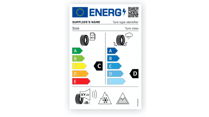 eu tire label new